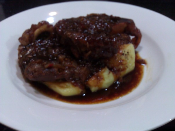 My Slow Cooked Sticky Veal.