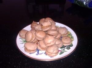 Chilli chocolate macarons!